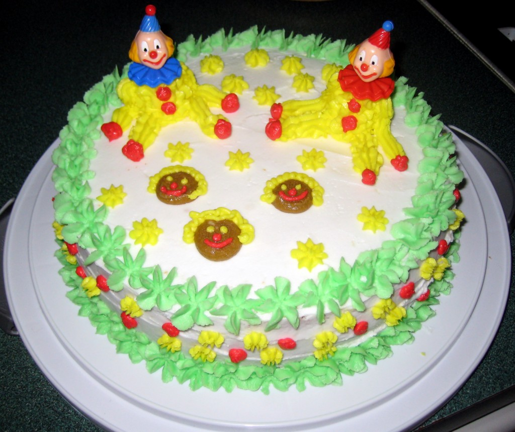 Clown Cake for Kids  birthday. Raji Creations