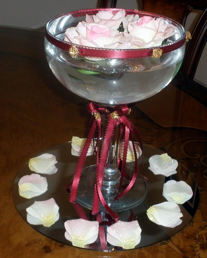Floating Roses in Margaritta Glass