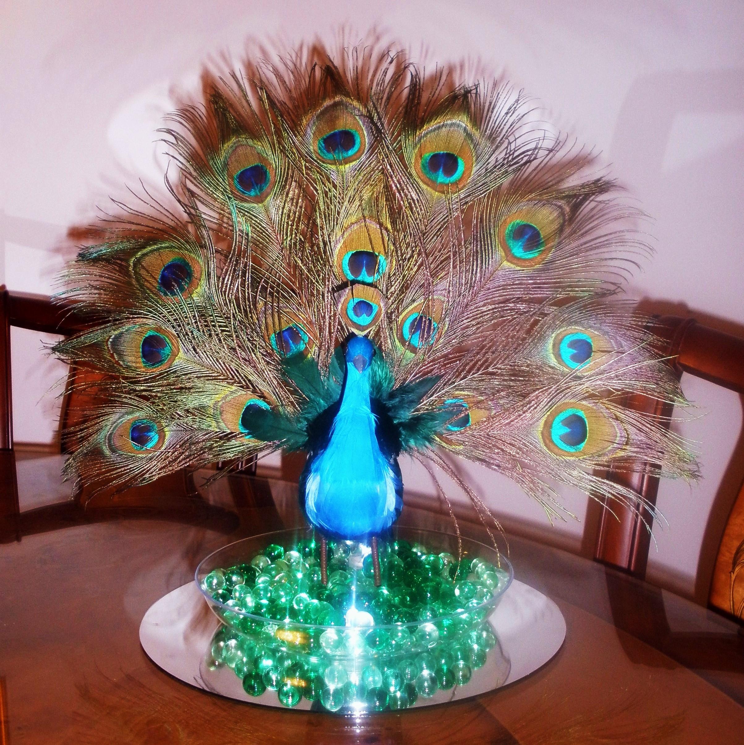 Peacock Center Piece
