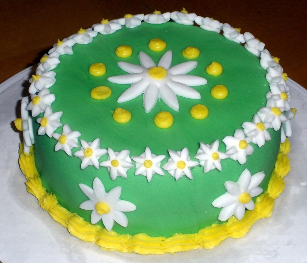 Green Flower Cake