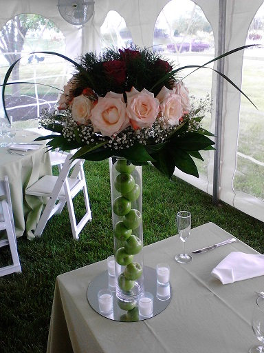 Fresh Flower Arrangements On A Tall Vase Raji Creations