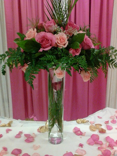 Tall Fresh Flower Centerpiece Raji Creations