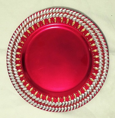 These attractive and unique plates are ideal for weddings and special events. These can be used to display wedding sweets and snacks wedding accessories ...  sc 1 st  Raji Creations & Colorful Decorative Plates | Raji Creations