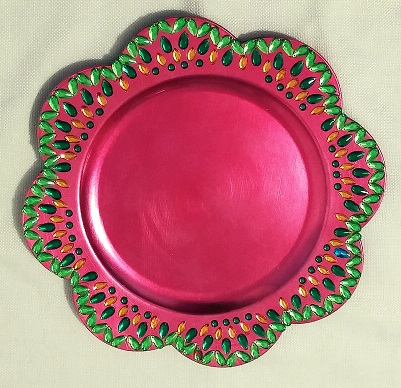 These attractive and unique plates are ideal for weddings and special events. These can be used to display wedding sweets and snacks wedding accessories ... & Colorful Decorative Plates \u2013 2 | Raji Creations