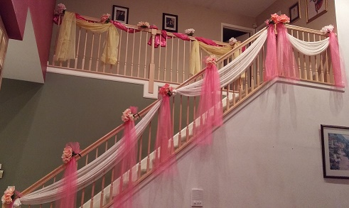 wedding staircase decorations and beautiful staircase decoration raji 1163