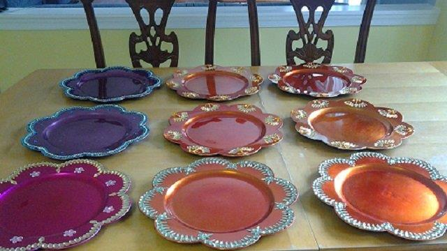 Decorative Colorful Plates Raji Creations