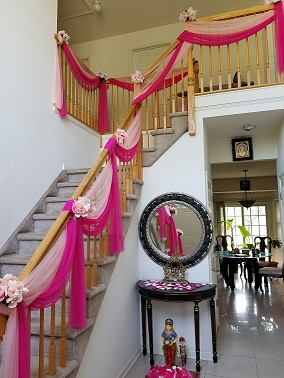 Beautiful Staircase Decoration Raji Creations